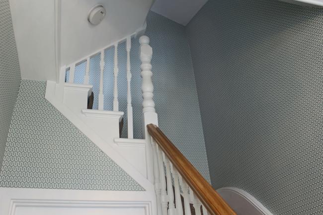 Fully wallpapered hallway wallpaper portfolio for Hallway wallpaper
