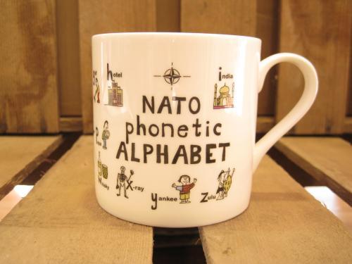 Large Bone China Mug Nato Phonetic Alphabet Mugs For
